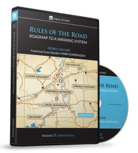 Rules of the Road: Roadmap Session II